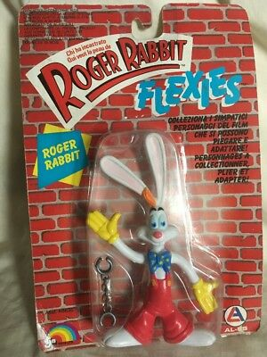 LJN WHO FRAMED ROGER RABBIT FLEXIES ROGER RABBIT ACTION FIGURE -unopened 1988