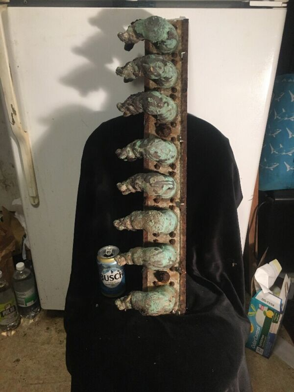 Industrial Factory Copper Doll Head Mold Rack Of Arms, Steampunk, Altered Art