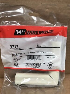 Int Elbow - wiremold V717 Steel int. Elbow 700 Ivory