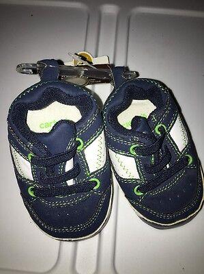 Dog Newborn Crib (Carters boys infants NB new born comfy fit crib shoes NWT blue Puppy Dog )