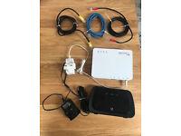 BT Home Hub 3.0 Type B & BT Fibre Modem Including Cables & Adapters