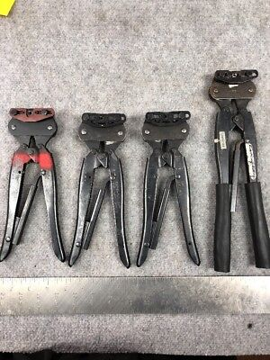 Lot Of 4 Amp Crimping Tools. Models In Pictures