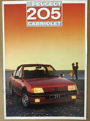 Car Brochure - 1987 Peugeot 205 Cabriolet - France