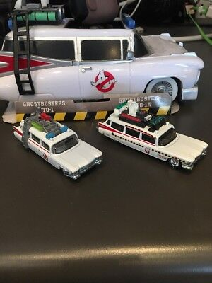 HOT WHEELS CLASSIC GHOSTBUSTERS ECTO-1 & ECTO-1A 2 Open PACK HOT WHEELS VHTF