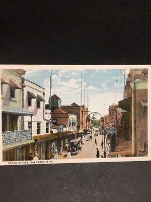 ZA958 Antique Postcard Broad Street, Barbados