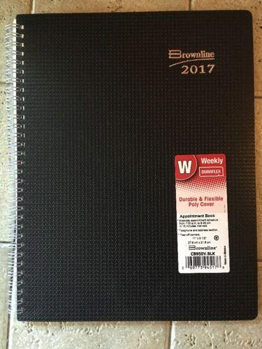 2017 Brownline CB950V.BLK Duraflex Weekly Appointment Book,
