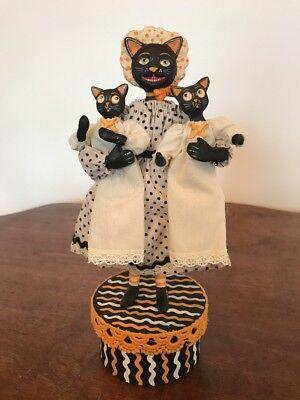 Bethany Lowe Allen Cunningham Halloween Nanny Cat—Retired