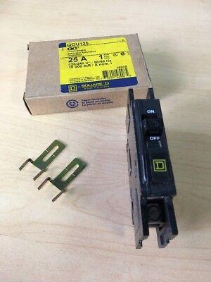 Qou125 Square D Circuit Breaker 25 Amp 1 Pole 120240v New In Box