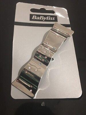 Hair Barrette Pin Hair Clip Silver Diamente Crystal Babyliss Large Wedding Gift