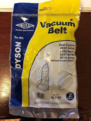 Dyson Vacuum Belt BLT100 - Dual Cyclone, DC01/DC04/DC07/DC14 (Pack of 2)
