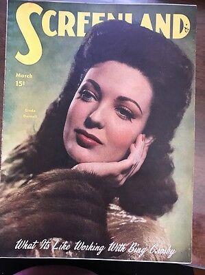 Screenland Magazine 1940S Linda Darnell On Cover