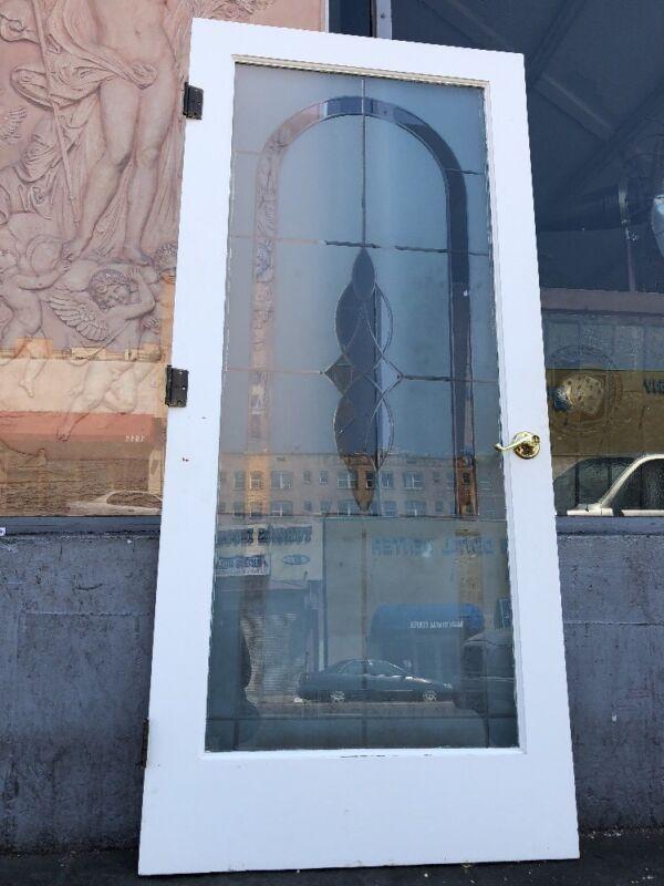 79x36 Etched Glass Interior Door