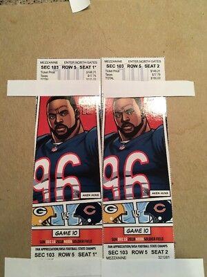 chicago bears vs packer ( e Tickets)