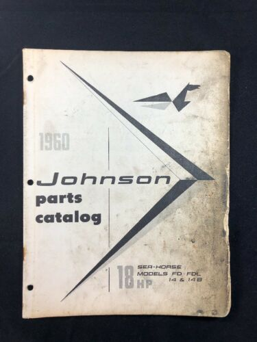 1960 JOHNSON OMC PARTS CATALOG LIST MANUAL 18 HP MODELS P/N 378126 DEALER