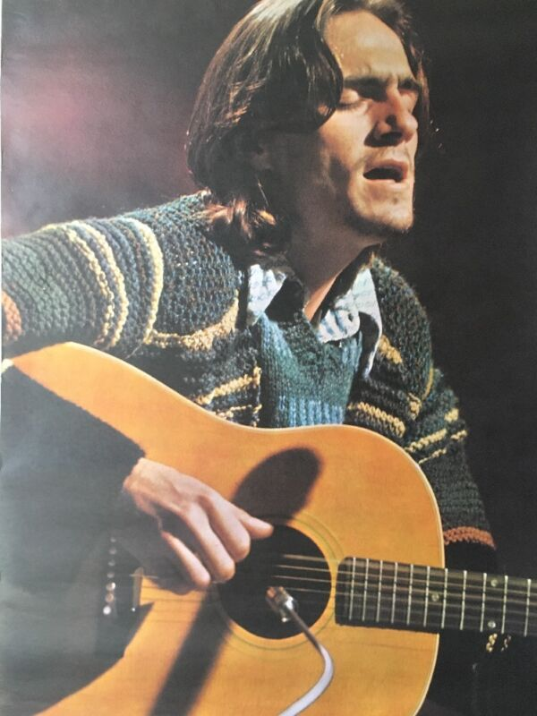 Vintage Poster James Taylor Pace International 1971 Original pin-up Putland