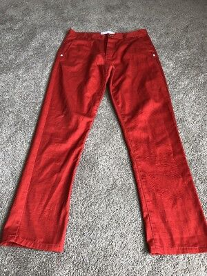 Mens Humor Orange Jeans Size 32 In Great Condition