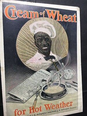 Super Rare 1906 Cream Of Wheat Rastus Black Man Ad Fan Image Never Seen This One