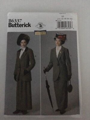 Butterick B6337 Edwardian Dress Plus Size Making History Costume 1920's Uncut