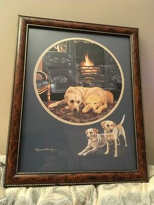 Framed & Glazed Pollyanna Pickering Print Golden Labrador When Day Is Done Print