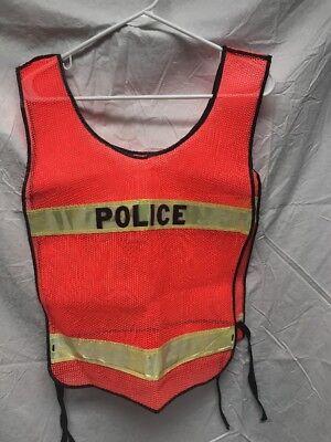 Police Officer Reflective Patrol Duty Traffic Safety Vest