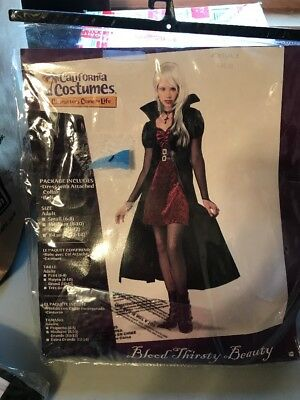 Pre Halloween (Pre-Owned Blood Thirsty Beauty Halloween Costume & Gray Horror Wig)