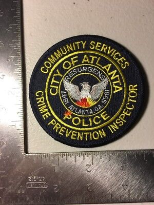 Atlanta Georgia Police Department Crime Prevention Inspector Patch Ga