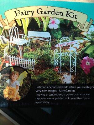 Fairy Garden 8 Piece Starter Accessory Kit Miniture Weatherproof In/Outdoor Use for sale  Carteret