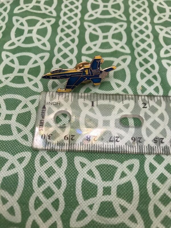 Vintage Blue Angels #1 Fighter Jet Enamel Military Lapel Pin FREE SHIPPING