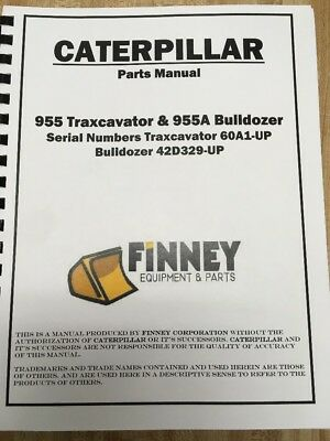 Cat Caterpillar 955 955h Crawler Loader Parts Manual Book New 60a 1-5000 955a