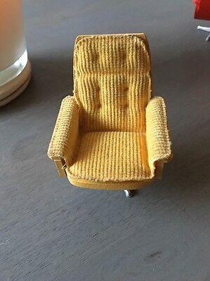 Lundby Swedish dolls house chair Vintage 1970's
