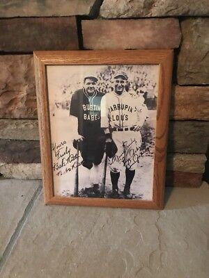 (Babe Ruth / Lou Gehrig Framed Photo 15x12 Inch Facsimile Autograph Bustin Babes)