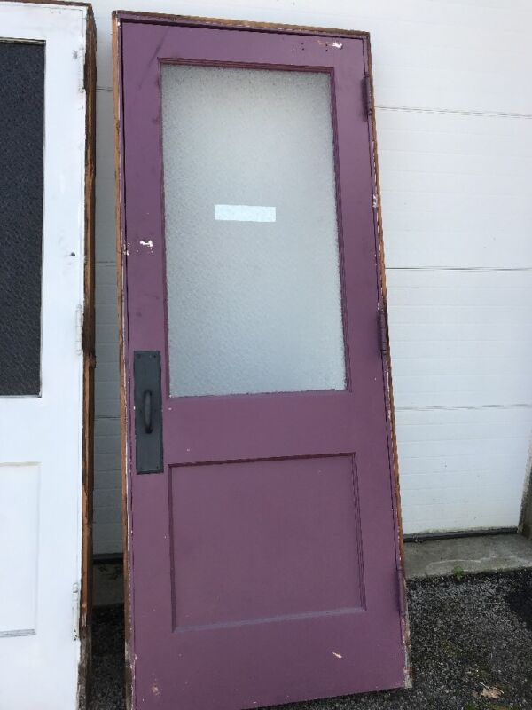 MAR 243 antique textured glass passage door 32 x 84 With Jamb