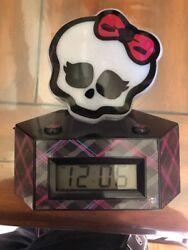 Monster High Skullette Alarm Clock Color Change Night Light LCD Display