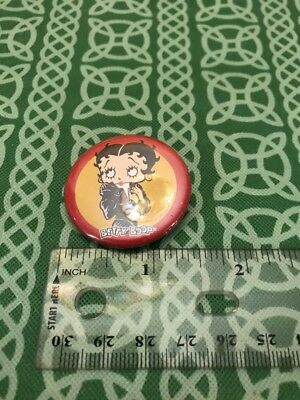 Betty Boop 2002 Leather Jacket Greaser Pin Button FREE SHIPPING - Leather Jacket Greaser