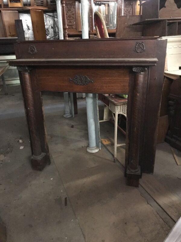 Cm Quartersawn Oak Fireplace Mantel 59.5 X 55