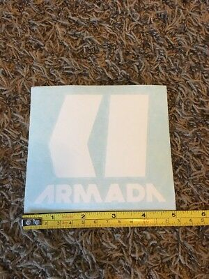 """Armada Sticker White 5"""" Decal Skis Bindings Snowboard Boots Jacket Skiing Ski for sale  Shipping to India"""