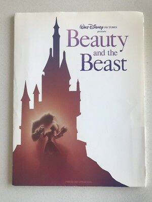 Beauty And The Beast  - Original Theatrical Press Kit - NEW