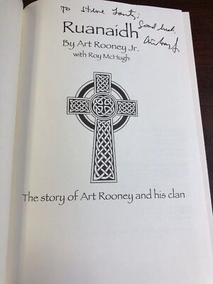 Ruanaidh: The Story of Art Rooney and His Clan SIGNED! Art Rooney Jr