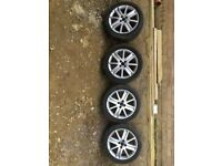 "17"" Renault alloy wheels and tyres"