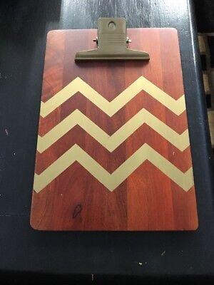 Threshold Solid Wood Clipboard Gold Chevron