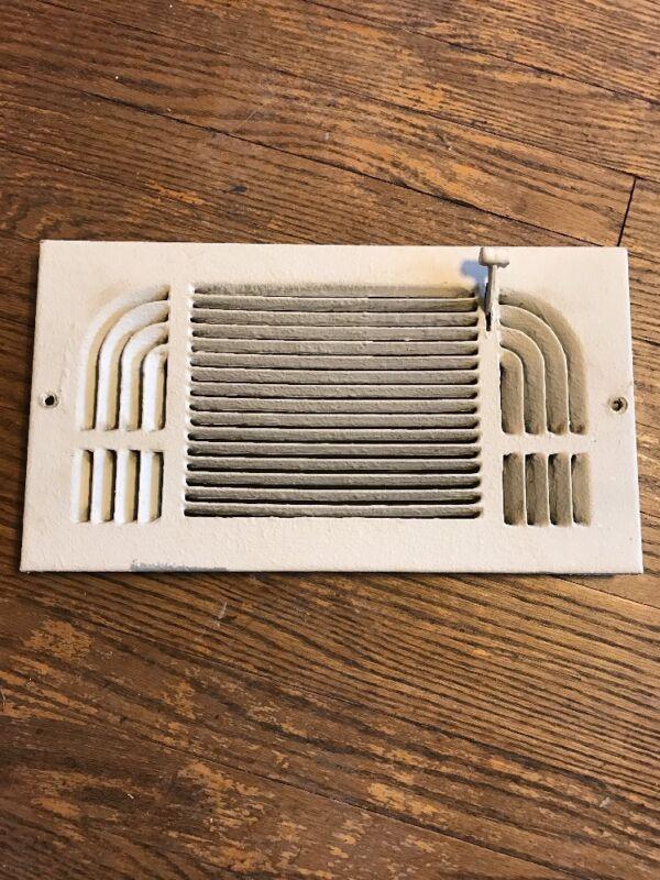 Vintage Wall Heat Register Metal Vent  Antique Heater Grate 12x6
