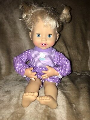 2010 FISHER PRICE MATTEL LITTLE MOMMY BABY DOLL INTERACTIVE PURPLE OUTFIT #3
