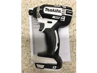Makita XDT11z White 18v LXT Lithium-Ion 1/4 Cordless Impact Driver Too