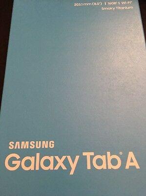 "Samsung Galaxy Tab A 8"" in inch Tablet WiFi 16GB Smoky Titanium NEW RETAIL"