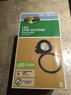 Low Voltage Pond - Hampton Bay Low-Voltage Black Outdoor Integrated LED Submersible Pond Light