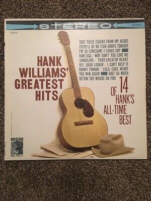 Hank Williams' Greatest Hits 14 Of Hank's All-Time Best 33 LP Record