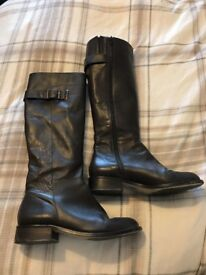 Bianca Knee length Boots size 6 - Dark Brown