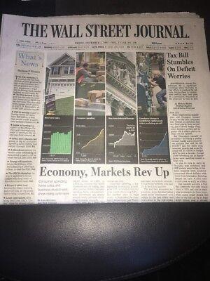 Wall Street Journal Dow Jones 24000 New Record High Full News Paper 12 1 17