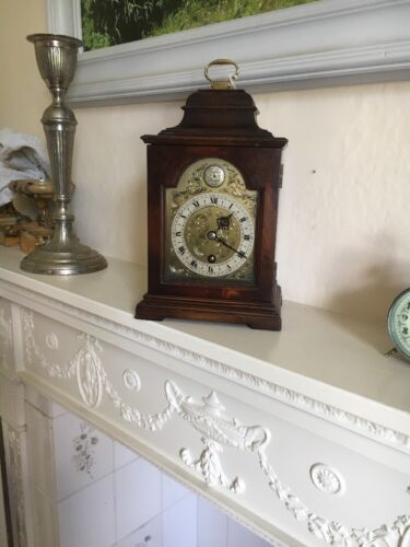 Walnut Bracket Clock by Astral of Coventry Working and serviced