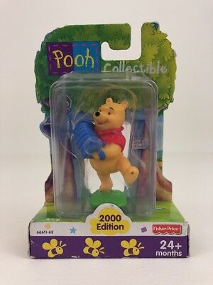 """Winnie The Pooh Collectible Toy 3"""" Figure Accordion Disney Fisher Price 2000"""